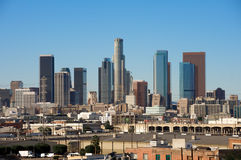 Downtown Los Angeles. Taken from the east side Stock Photos