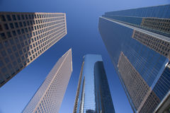 Downtown Los Angeles. Wide angle view  of building in los Angeles Stock Photography