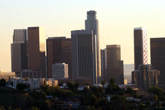 Downtown Los Angeles. A view of downtown Los Angeles Royalty Free Stock Photo