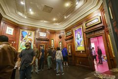 Downtown Los Angeles Art Walk. Los Angeles, SEP 14: Interior view of a gallery of the famous Downtown Los Angeles Art Walk on SEP 14, 2017 at Los Angeles Stock Images