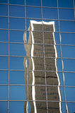 DowNtown Los Angeles building reflected. On another building Stock Images