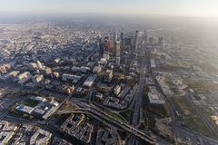 Downtown Los Angeles California Aerial Royalty Free Stock Photography