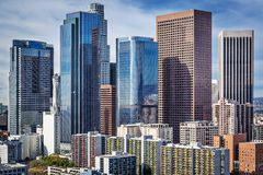 Downtown Los Angeles. Los Angeles, California, USA downtown cityscape Stock Image