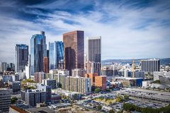 Downtown Los Angeles. Los Angeles, California, USA downtown cityscape Royalty Free Stock Photos
