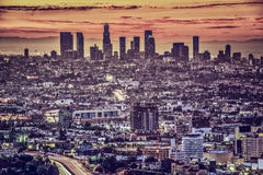 Downtown Los Angeles. Los Angeles, California, USA early morning downtown cityscape Royalty Free Stock Photo