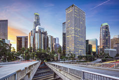 Downtown Los Angeles. Los Angeles, California, USA early morning downtown cityscape Royalty Free Stock Images