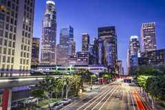 Downtown Los Angeles. Los Angeles, California, USA early morning downtown cityscape Stock Image