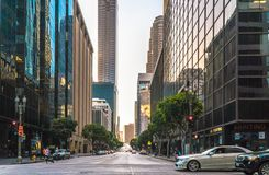 Downtown Los Angeles is the central business district royalty free stock photo