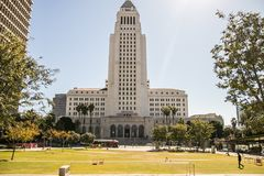 Free Downtown Los Angeles City Hall Stock Image - 117351281