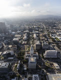 Downtown Los Angeles Civic Center Aerial View Royalty Free Stock Images