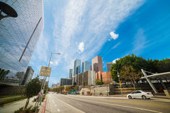 Downtown Los Angeles on a clear day Stock Photos