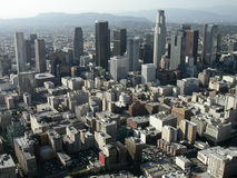 Downtown Los Angeles Editorial Aerial Stock Photos