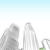 Downtown Los Angeles Financial District. An image of a downtown los angeles financial district Stock Image