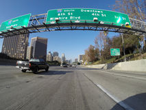 Downtown Los Angeles Freeway Exits Stock Photography