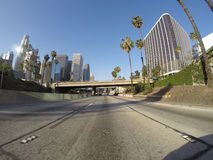 Downtown Los Angeles Freeway Royalty Free Stock Image
