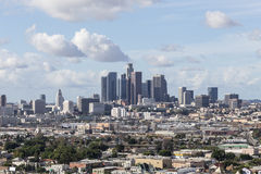 Downtown Los Angeles from Lincoln Heights Stock Image