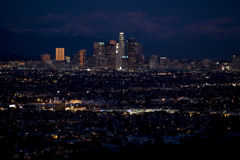 Downtown Los Angeles Night 1 Royalty Free Stock Image