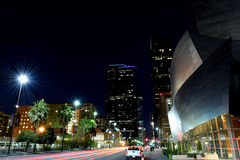 Downtown Los Angeles by Night Stock Photos