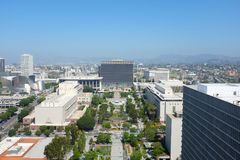 Downtown Los Angeles seen from City Hall Royalty Free Stock Images