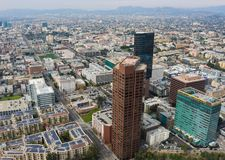 Aerial View Downtown Los Angeles California Royalty Free Stock Images