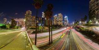 Downtown Los Angeles, California, USA skyline Royalty Free Stock Photos