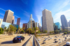 Downtown Los Angeles skyline Stock Photos