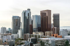 Downtown Los Angeles Skyscrapers Royalty Free Stock Photos