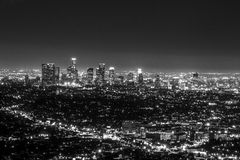 Downtown Los Angeles. From the top of Griffith Observatory, you can get an amazing view of downtown Los Angeles Stock Image