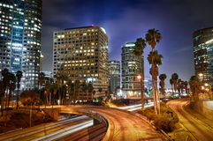 Downtown Los Angeles Traffic Stock Photo
