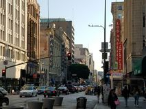Downtown LosAngeles : Broadway royalty free stock photo