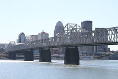 Downtown Louisville, Kentucky skyline Stock Images