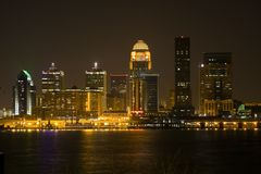 Downtown Louisville, KY royalty free stock image