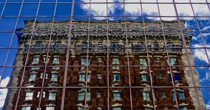 Downtown Louisville Wavy Mirror Building royalty free stock image