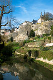 Downtown of Luxembourg City Royalty Free Stock Images
