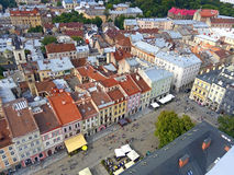 Downtown in Lviv, Ukraine Royalty Free Stock Photography