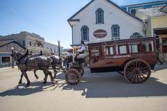 Downtown Mackinaw Island Street Scene royalty free stock photos