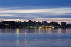 Downtown of Madison accross Monona Lake Royalty Free Stock Photo