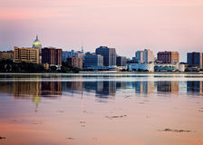 Downtown Madison seen acrross Lake Monona Stock Photo