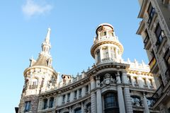 Downtown Madrid, Spain royalty free stock image