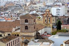 Downtown of the Malaga. Spain. Royalty Free Stock Image