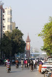 Downtown Mandalay. The busy streets of downtown Mandalay in Myanmar Royalty Free Stock Images