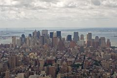 Downtown Manhattan. New York, Manhattan from Empire State Building Stock Photo