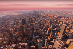 Downtown Manhattan New York. Downtown Manhattan, financial district, New York city at sunset Stock Photography