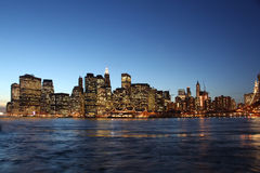 Downtown manhattan, brooklyn bridge new york  Royalty Free Stock Image