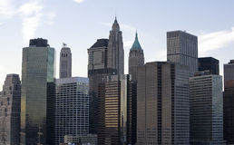 Downtown Manhattan Buildings Stock Image