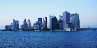 Downtown Manhattan at dawn Royalty Free Stock Image