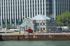 Downtown Manhattan heliport in New York Royalty Free Stock Photography