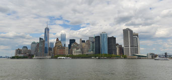 Downtown Manhattan from Liberty Island Stock Photo