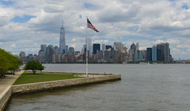 Downtown Manhattan from Liberty Island Royalty Free Stock Images