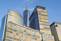 Downtown Manhattan New York City Skyline Royalty Free Stock Images